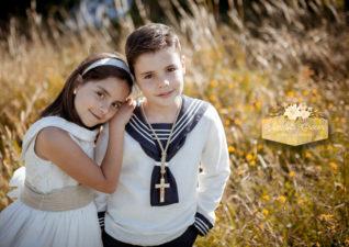 Fotos de comunión de dos hermanos