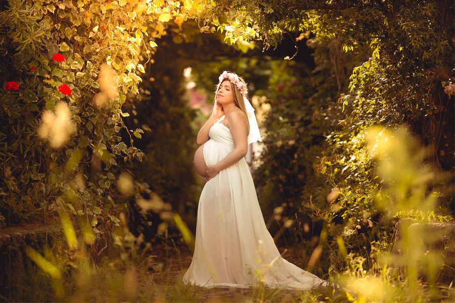 Sesión de fotos de embarazo de Diana de Carballo