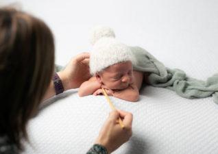 Como hicimos la sesión de recién nacido de Leo de Muxía