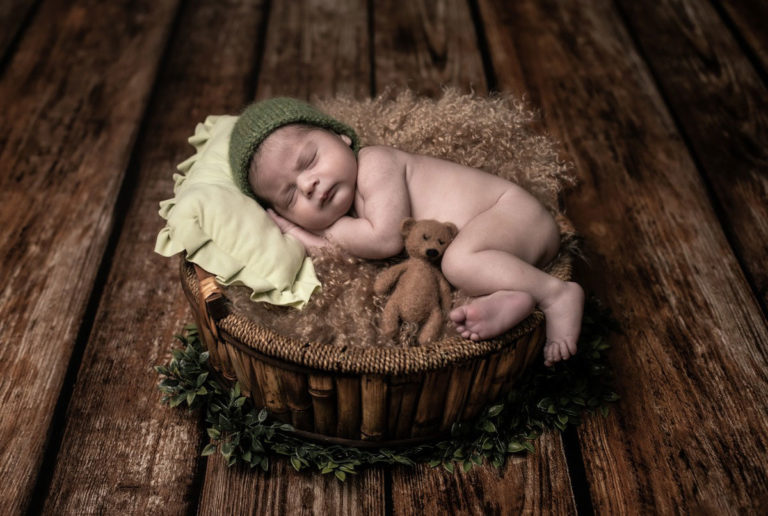 La sesión de fotos de recién nacido de Erick