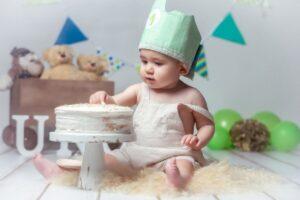 La sesión de Smash Cake de Iago de Vimianzo