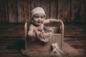 La bonita sesión de bebé de Érick de Ponte do Porto