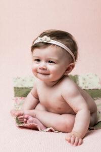 La sesión de fotos de bebé de Valentina de Carballo