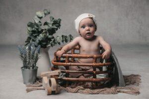 Sesión de fotos de bebé de Ian de Gijón