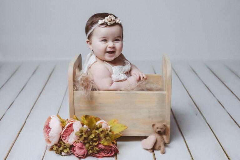 La sesión de fotos de bebé de Julia de Carnés
