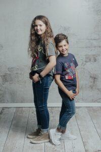 La sesión de fotos infantil de Noa y Teo de Olveira