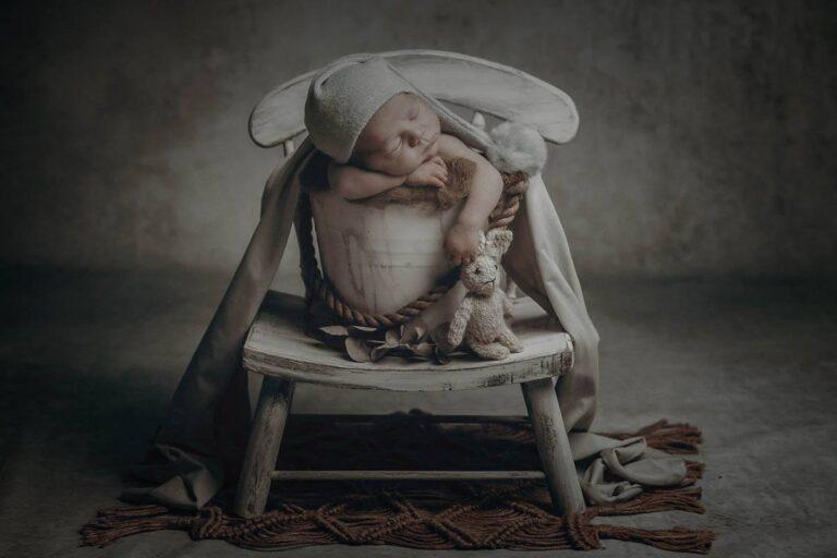 Las fotos de recién nacido en Muxía de Leo