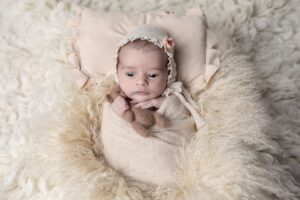 La sesión de recién nacida en Cambre de Valeria