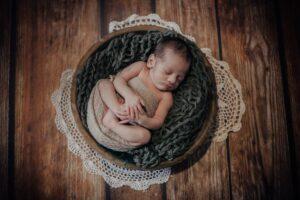 Las fotos de recién nacido en navidad de Hugo