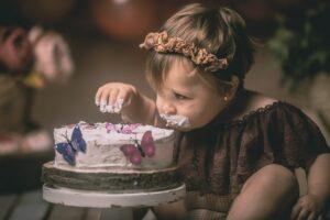 Las fotos de smash cake de la preciosa Lara de Baio