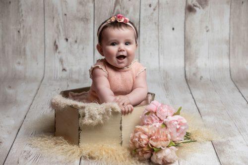 Sesión de fotos de bebé por Viéndote Crecer Fotografía Infantil en la Costa da Morte